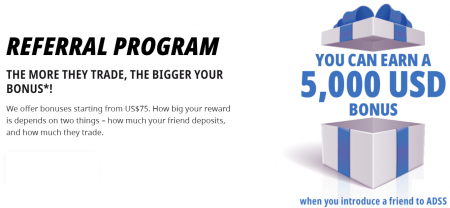 ADSS Refer a Friend - Up to 5,000 USD
