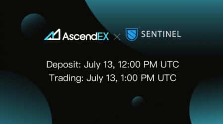 AscendEX Lists Sentinel Token (DVPN)