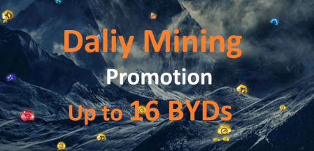 Bityard Daliy Mining Promotion - Up to 16 BYDs