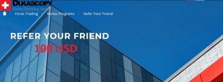 Dukascopy Refer your Friend - 100 USD