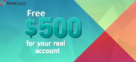 Grand Capital No Deposit Welcome Bonus - Free $500