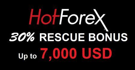 HotForex Rescue Bonus - 30% Up to 7,000 USD