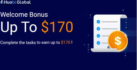 Huobi Welcome Bonus - Up to $170