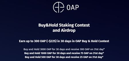 LATOKEN Buy&Hold Staking Contest and Airdrop - up to 300 OAP (~$225)