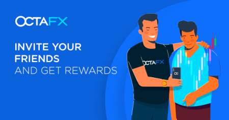 OctaFX Invite a Friend Promotion - 1 USD per 1 standard lot