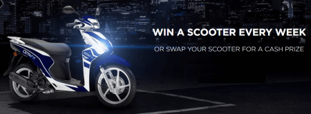 OctaFX Weekly Scooter Giveaway - Menangkan Scooter