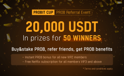 Probit Cup: PROB Referral Event Competition - Share the 20,000 USDT prize pool
