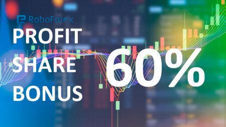 RoboForex Profit Share Bonus 60% Deposit - Up to 20,000 USD
