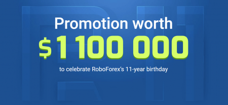 RoboForex's 11-Year Birthday Promotion - $1 100 000
