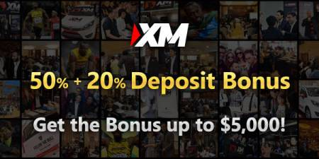 XM 50% and 20% Deposit Bonus - Up to $,5000