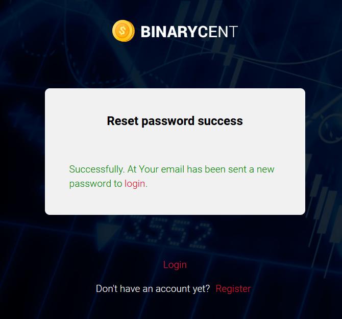 Bagaimana Cara Masuk ke Binarycent? Lupa kata sandi ku