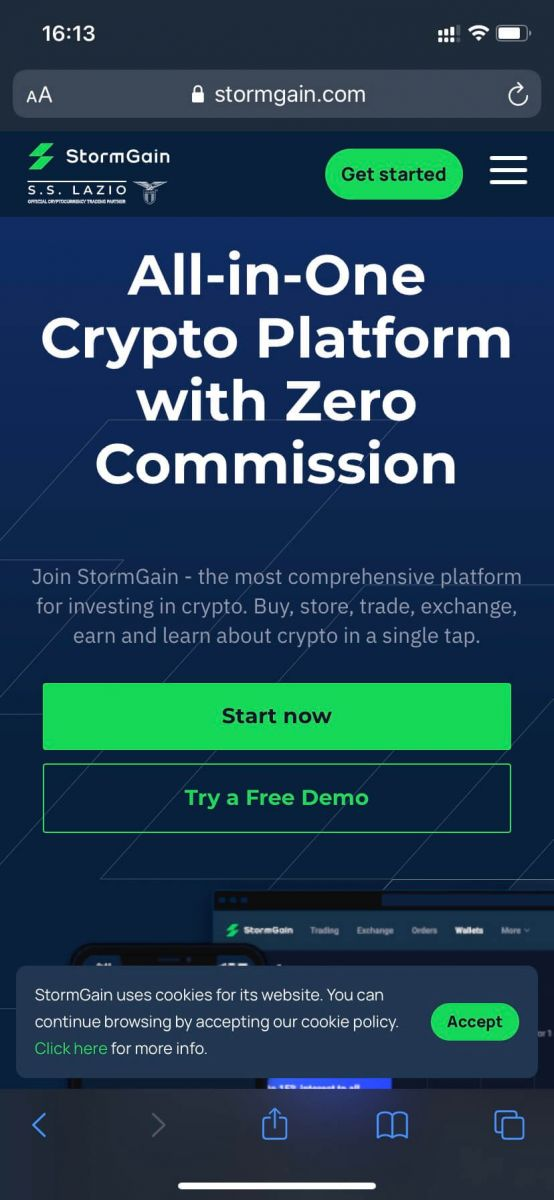 How to Sign Up and Deposit at StormGain